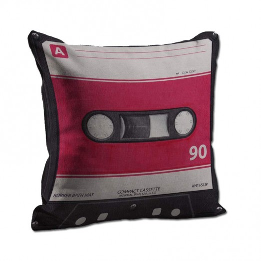 Pink cassette cushion