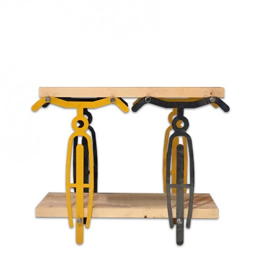 Bicyle shaped console